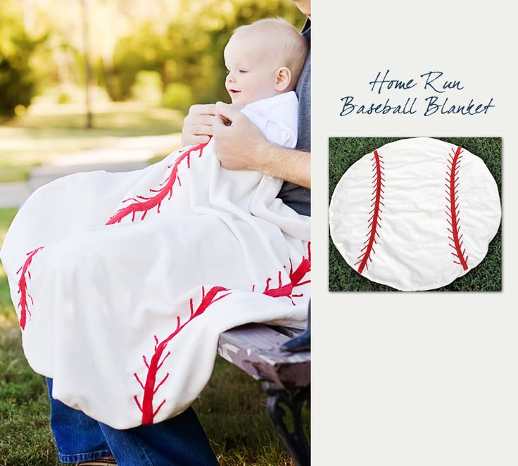 It's baseball season! Great baby shower gift idea: Baseball Baby Blanket, $39.95 (http://northwestgifts.com/products/Baseball-Baby-Blanket.html)