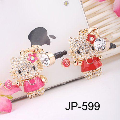 Red Kitty (JP-599) Dust Plug / Earphone Jack Accessory / Ear Cap / Ear Jack for…