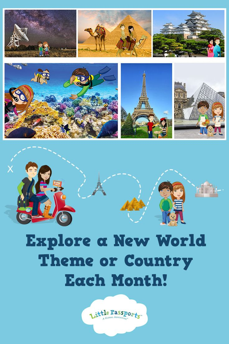 Little Passports teaches kids about geography & world culture with monthly packages  filled with letters, souvenirs, stickers, activities & more. Perfect for ages 3-12!