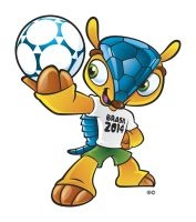 Mascotte WK voetbal 2014.