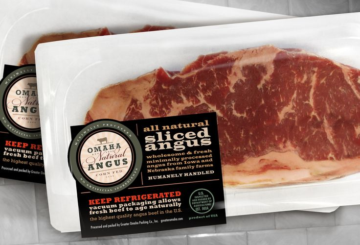 Meat Packaging - Omaha Natural Angus