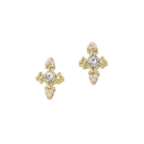 Small Baroque Cross / Gold – Daily Charme