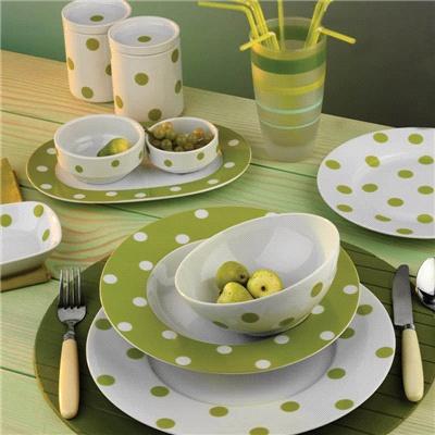 6 Kişilik Yeşil Puantiyeli Porselen Takım  Kütahya Porselen  Yeşil puantiyeli takımı arzu ederseniz yine aynı desenli ürünlerle ya da farklı yeşil tonları ile bir arada kullanarak daha da zenginleştirebilirsiniz  porselen, porselen takım, yemek takımı, porcelain, porselen yemek takımı,