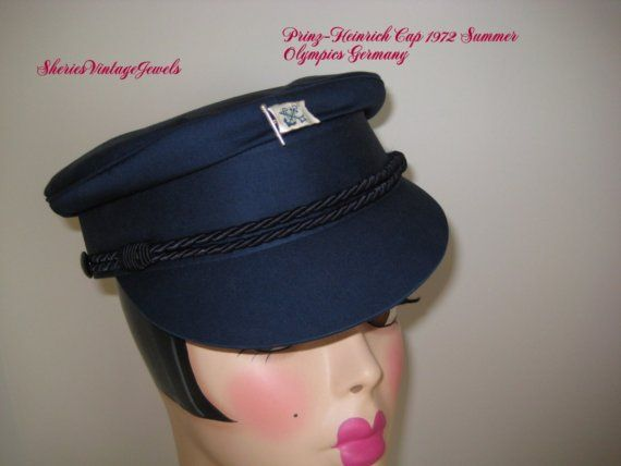 Prinz Heinrich Vintage  Navy Cap 1972 Summer Olympics in Germany  by SheriesVintageJewels.etsy.com