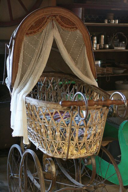 Old baby buggy in museum by Julia Luna, via Flickr