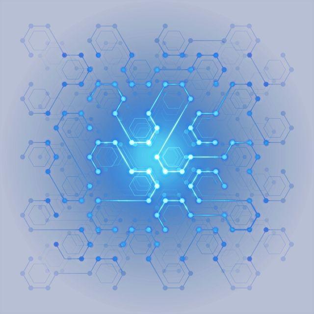 Poster Designer Wallpaper Digital Technology Digital Hexagon Light Effect, Light Blue, Science And Technology, Blue Light Effect PNG Transparent Clipart Image and PSD File for Free Download
