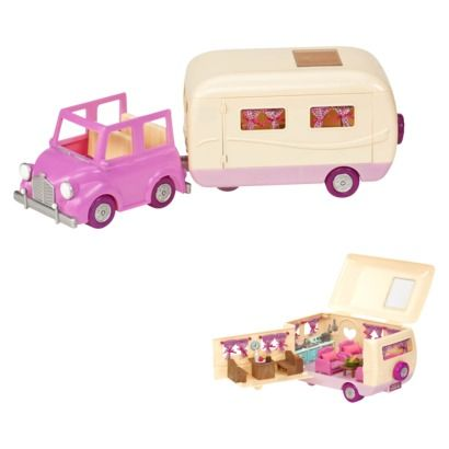L'il Woodzeez Happy Camper now available online from Target for $29! Much cheaper than the Calico Critters one.
