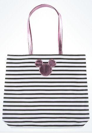 Disney Tote Bag - Mickey Mouse Icon - Striped