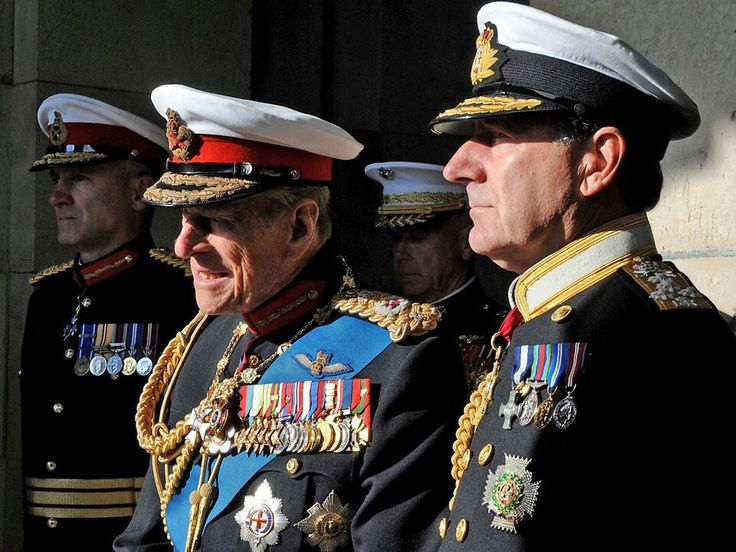 His Royal Highness the Duke of Edinburgh and the First Sea Lord Admiral Zambellas