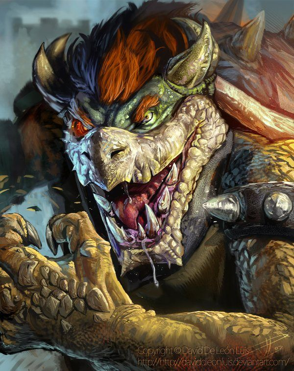 Realistic Bowser (King Kooper) by David De Leon - Super Mario Bros Art