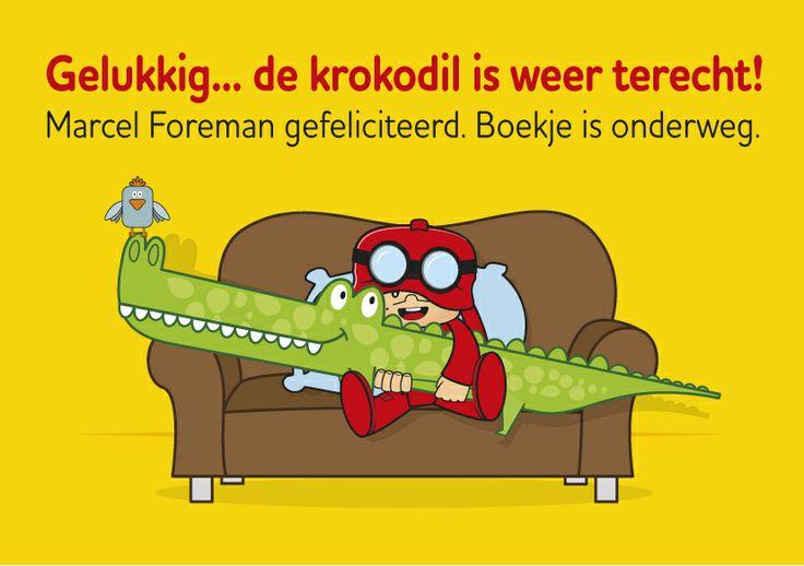 De krokodil is weer terecht! Gelukkig maar want ons interactieve boekje is vanaf gisteren te koop. Tijdelijk voor slechts € 9.95 http://www.debengelfamilie.nl/#page-4 Marcel Foreman is de gelukkige winnaar en ontvang deze week nog het interactieve boekje 'Dave wil een huisdier'.