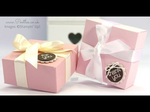 Stampin' Up! UK demonstrator Pootles - Elegant Pink and Brown Box Tutorial