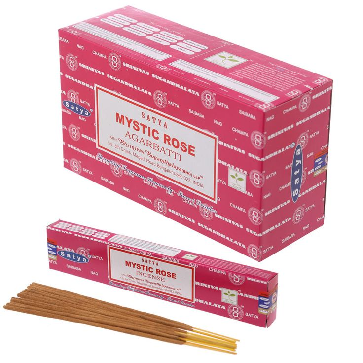 Satya Nag Champa Incense Sticks - Mystic Rose