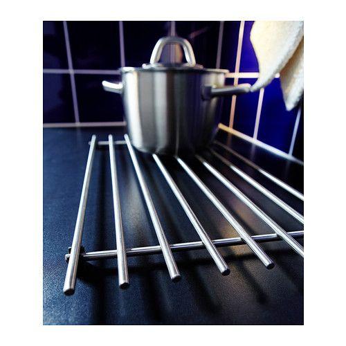 L mplig pannenrek roestvrij staal steel plastic and ikea - Dessous de plat ikea ...
