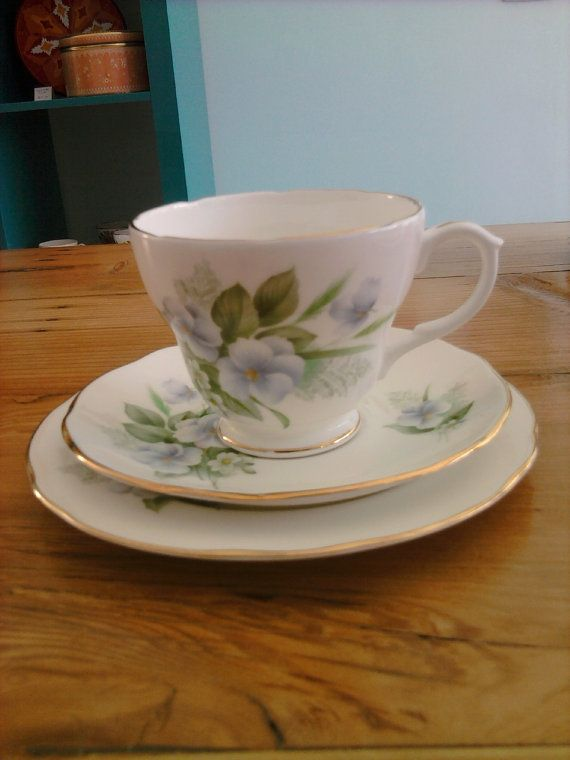 Vintage 'Duchess' high tea trio 'Clare' blue by mytweehouse, $22.20