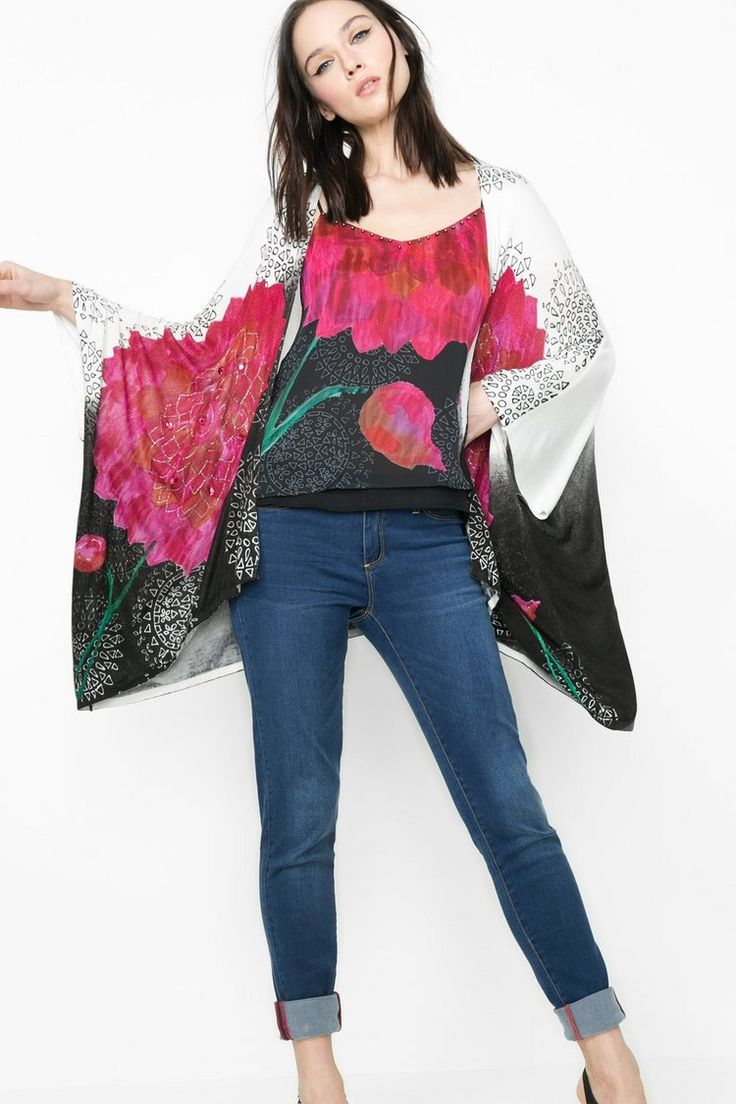 Wide-fitting knitted cardigan | Desigual.com