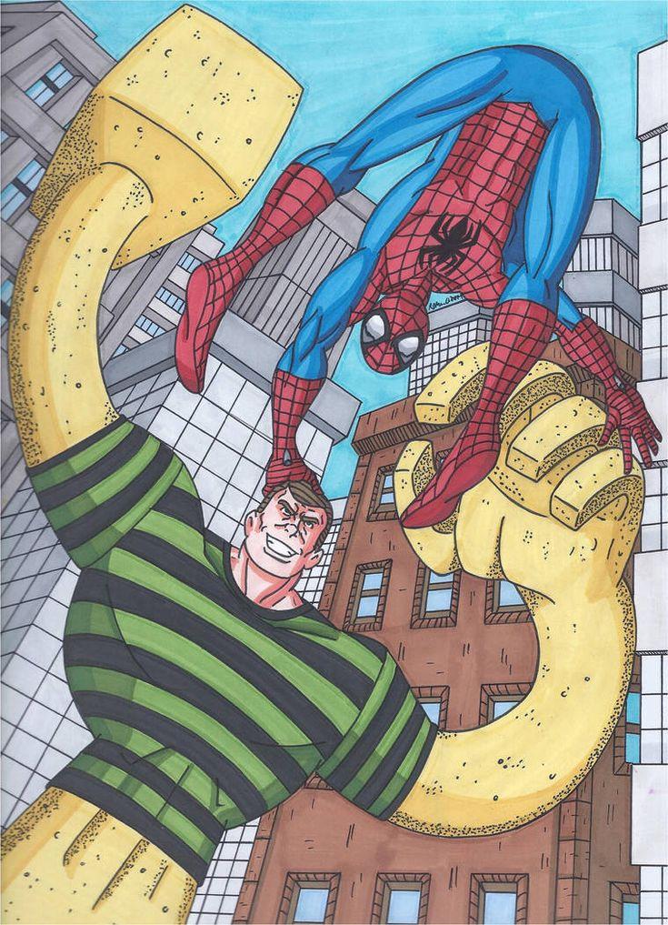 sandman spiderman pictures - 735×1017