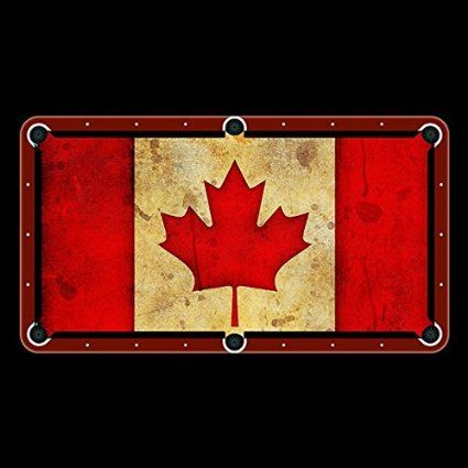 Canadian Flag Billiard Cloth Custom Pool Table Felt Features an anti-friction…