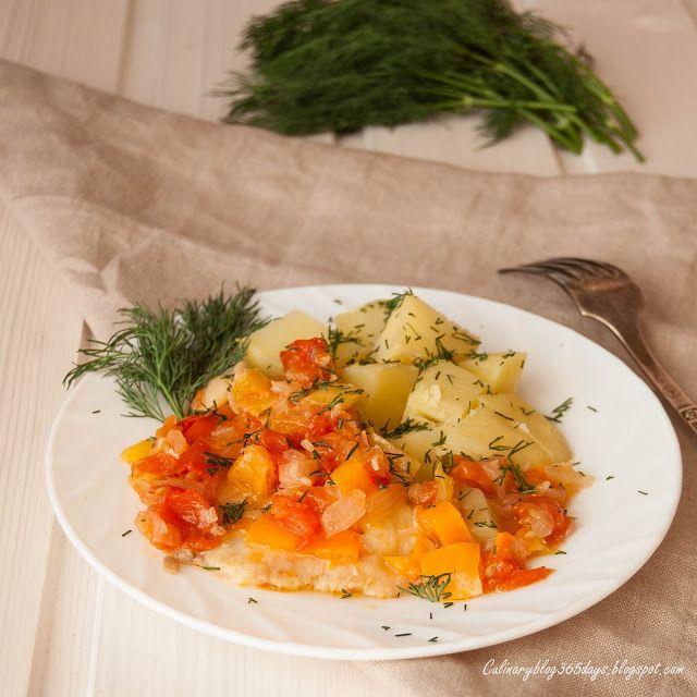 Кулинарный блог 365 дней: Рыбное филе под овощами