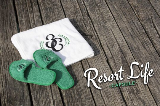 Hooked On Livin' Resort Life  #thirdchapter #3rdchapter #3C #resortlife #beach #slippers #towl #accessories