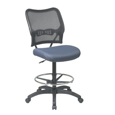 Office Star SPACE Mid-Back Mesh Drafting Chair Upholstery: Nano-Texwith BioAm - Sojourn Just Blue