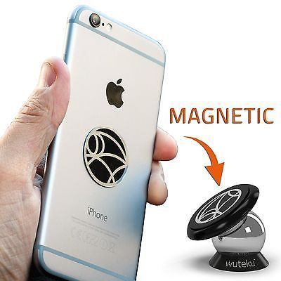 Best Car Phone Holder 100% Universal Magnetic Dashboard Mount Kit by Wuteku |... - http://phones.goshoppins.com/phone-accessories/best-car-phone-holder-100-universal-magnetic-dashboard-mount-kit-by-wuteku/