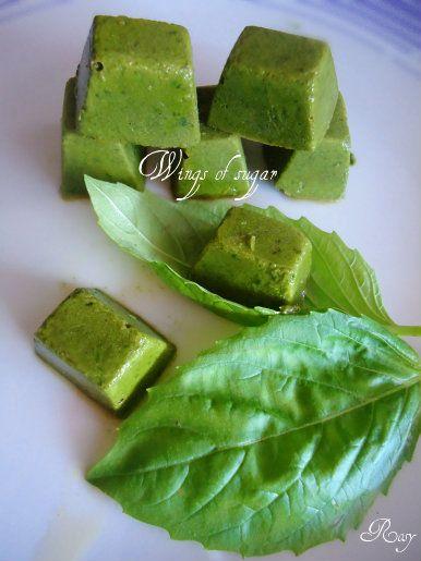 Cubetti di basilico, ricetta come conservare il basilico- conservare il basilico per l'inverno - idee per conservare il basilico - cubetti di basilico
