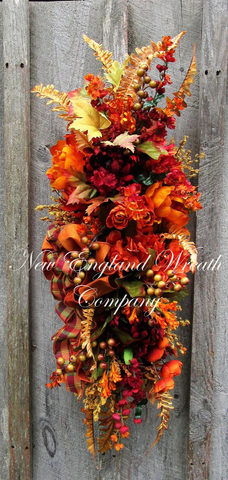 best 25  fall swags ideas only on pinterest