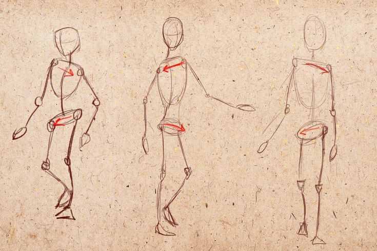 Картинки по запросу человек в движении рисунок | Рисовать ...