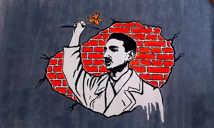 Dariusz Paczkowski: Project of mural about Marek Edelman - leader of the Warsaw Ghetto Uprising in Warsaw (for 70th anniversary )
