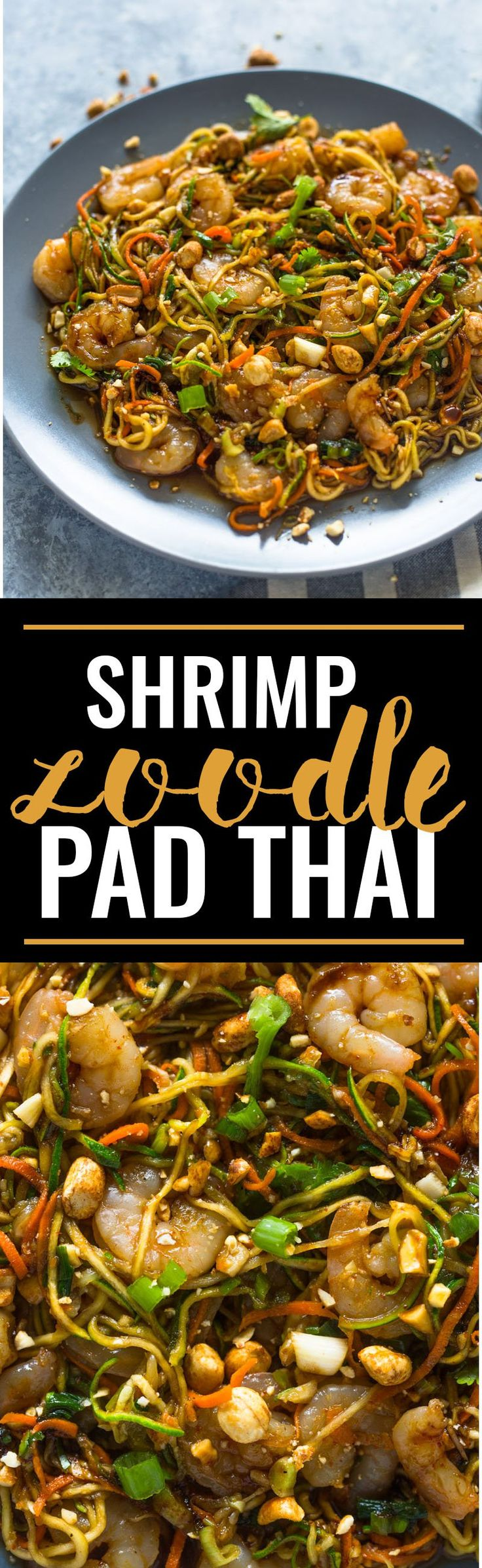 10 Minute Low-Carb Shrimp Zoodle Pad Thai