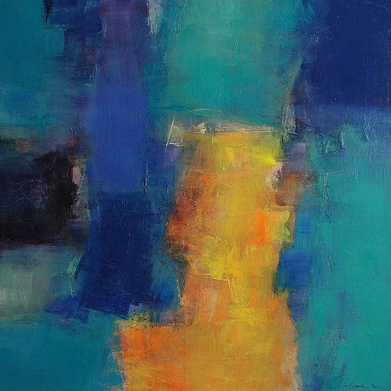 November 2012 - 4 - Original Abstract Oil Painting - 60.6 cm x 60.6 cm (app. 23.9 inch x 23.9 inch)