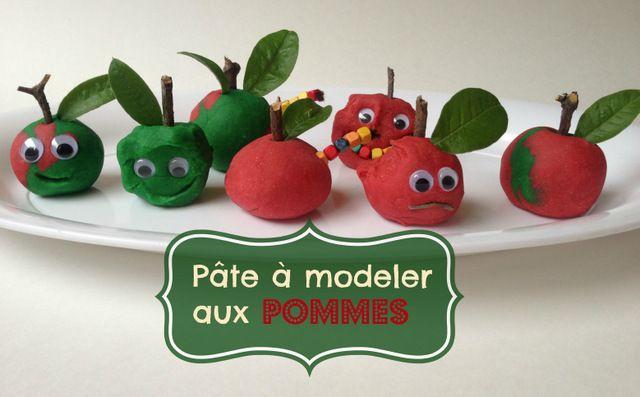 Une activité pour les journées d'automne pluvieuses : de la pâte à modeler aux pommes