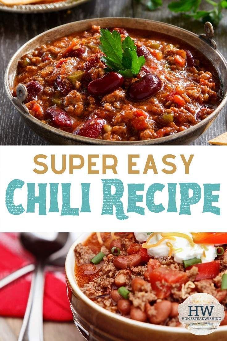 Chili Recipe The Easiest Chili Recipe Ever Chili Recipe Easy Chili Recipes Recipes