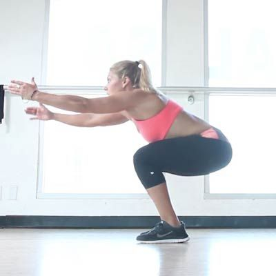 The squat is one of the best moves to tone your glutes and trim your thighs, but it's important to be sure your form is correct to maximize results and prevent injuries. | Health.com