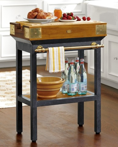 French Chef's Kitchen Island, Single with Towel Rod