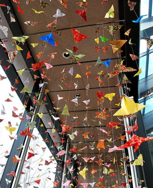 1000 paper cranes by pink_emmie_bat, via Flickr