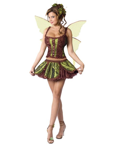 Women's Enchanting Fairy Sexy Costume (69539)   As a beautiful enchanted creature for the forest you be able to spread happiness and cheer to everyone at your next Halloween party. The Women's Enchanting Fairy Sexy Costume includes a puckered taffeta corset top, layer petal skirt, mesh underskirt and rhinestone studded wings. This costume will make you look absolutely magical. Although many people don't believe fairies exists, when you wear this costume you'll help them believe. $67.99