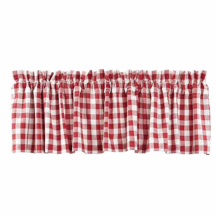 Buffalo Red Check Valance Lined 16x72