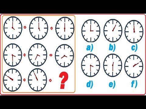 Raciocínio Lógico com relógios, teste psicotécnico com relógios digitais,  Assista à vídeoaula, com a resposta em resolução comentada, passo a passo, desta questão resolvida no link (endereço): https://youtu.be/ArEGiZXVpn0