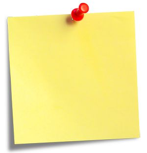 Sticky notes transparent image