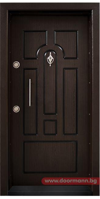 Блиндирана входна врата - Код T108, Цвят Тъмен Орех