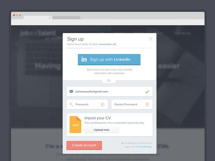 7 best UI \/ Signin - Signup images on Pinterest Form design - parse resume definition