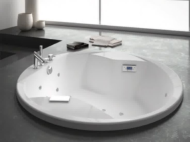 Bathroom, Amusing Round Whirlpool Bathtub Beautiful Bathroom Designs Small Bathroom: Simple Modern Round Whirlpool Bathtub For Bathroom Design For Small Spaces
