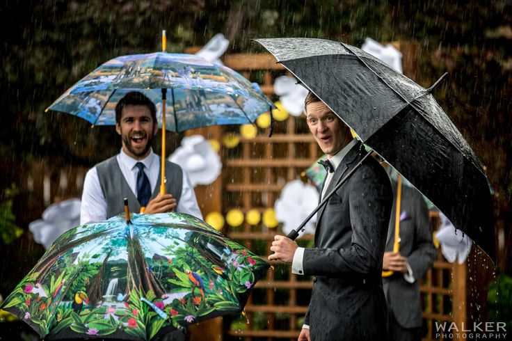 Rainy Wedding Ceremony at Calgary Zoo by Walker Photography www.walkerphoto.ca