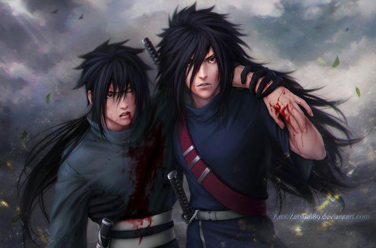 MADARA and IZUNA _ the brotherly blood _ 624 by Zetsuai89.deviantart.com on @deviantART