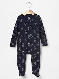 Favorite footed bear one-piece