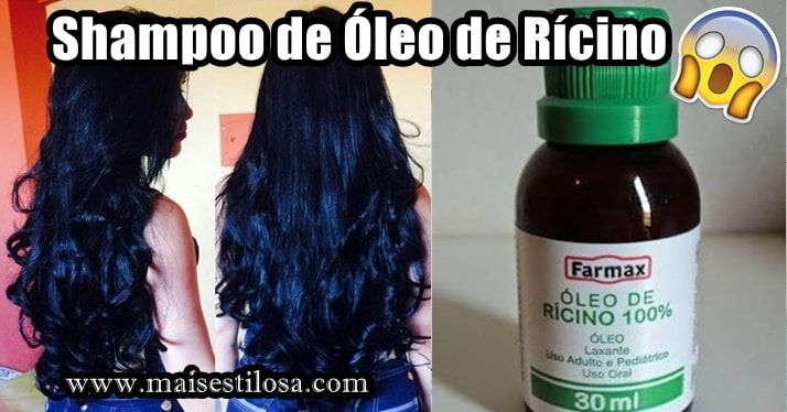 Shampoo com óleo de rícino caseiro.Aprenda como fazer. Ajuda a parar a queda de cabelo e faz o cabelo crescer bem mais rápido.