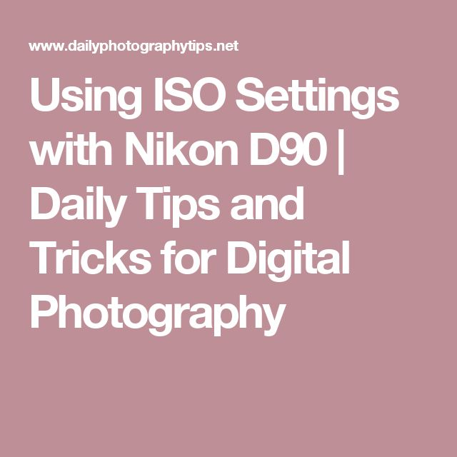 Using ISO Settings with Nikon D90 | Daily Tips and Tricks for Digital Photography