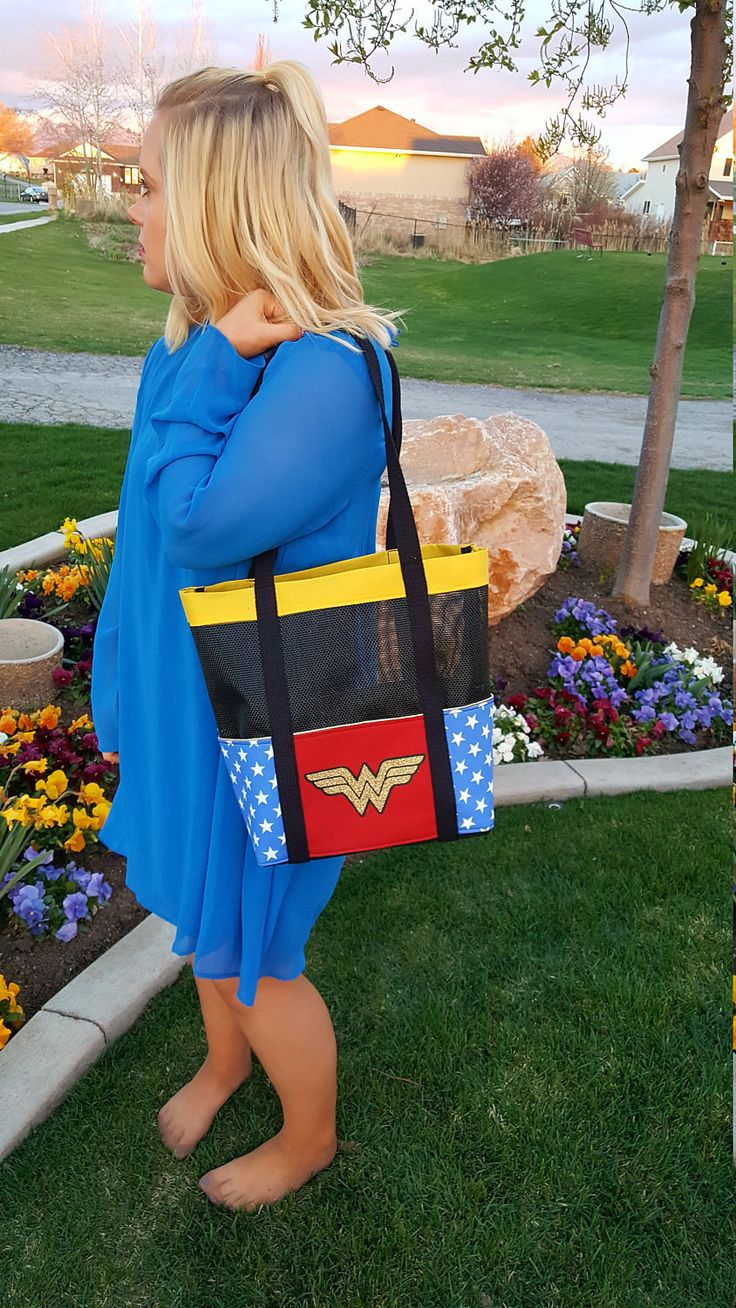 Wonder Woman Bag Super Hero Bag Beach Bag Pet Screen